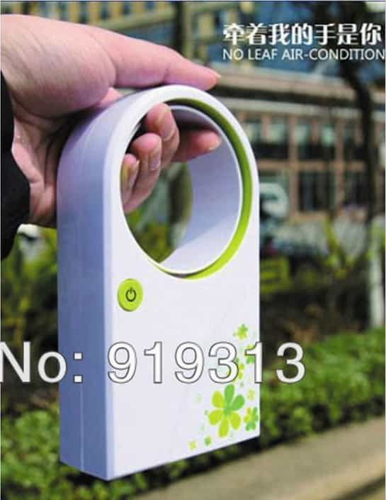 New Mini Portable Handheld Air Conditioner No Leaf Fan - BEST BUY Mini Bladeless Fan USB Desktop Handheld Cooler