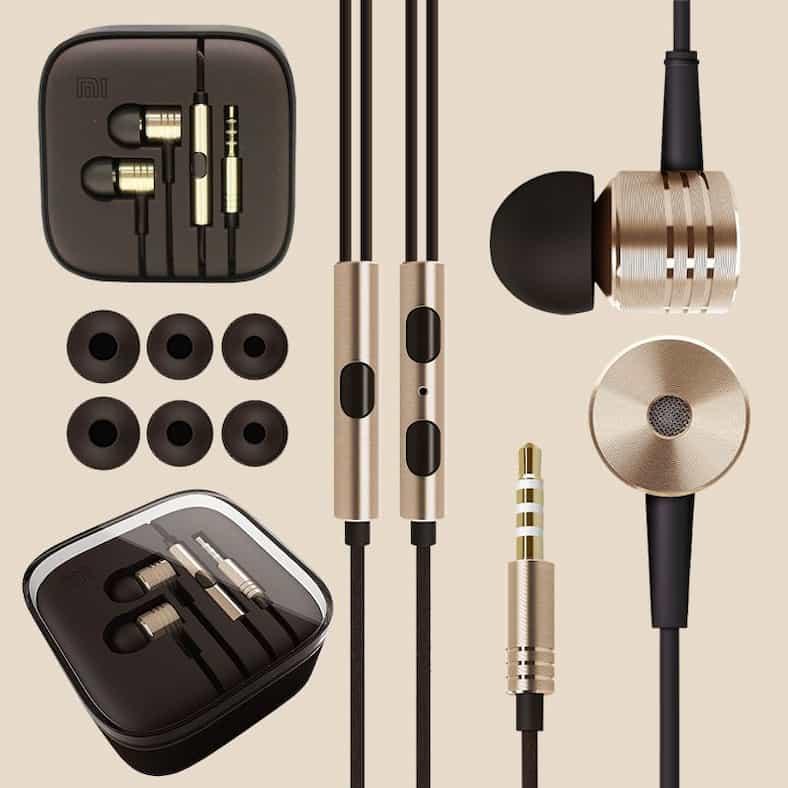 100-New-Original-XIAOMI-Piston-Earphone-Gold-Headphone-Headset-with-Remote-Mic-for-MI2-MI2S-MI2A