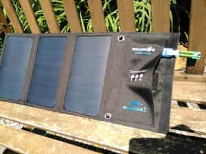Solar panel blitzwolf in the sun