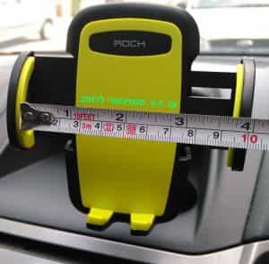 Rock phone stand car dashboard width