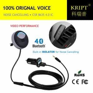 noise cancelling 2016 latest version AUX bluetooth car kit