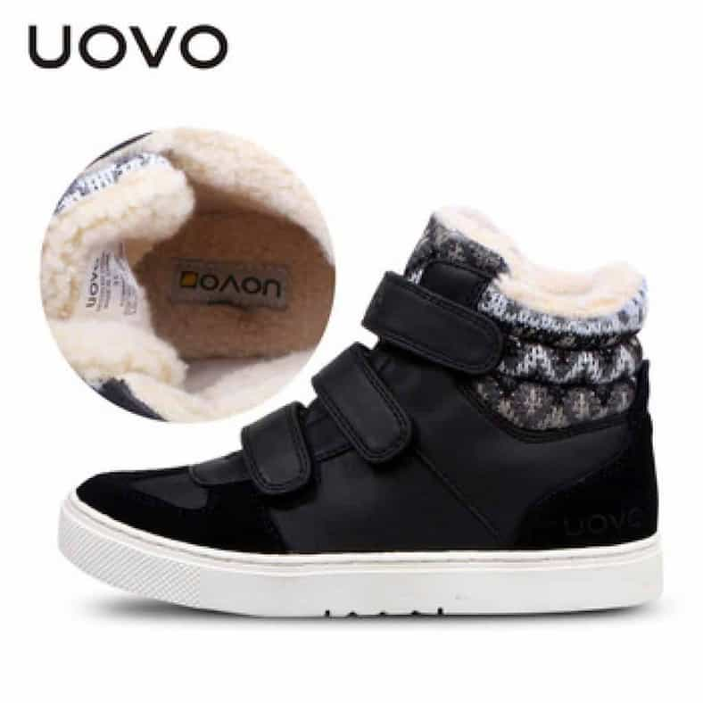 UOVO Winter Children Shoes Warm Faux Fur Boys Shoes Girls Shoes Mid Cut Footwear for Kids.jpg 350x350