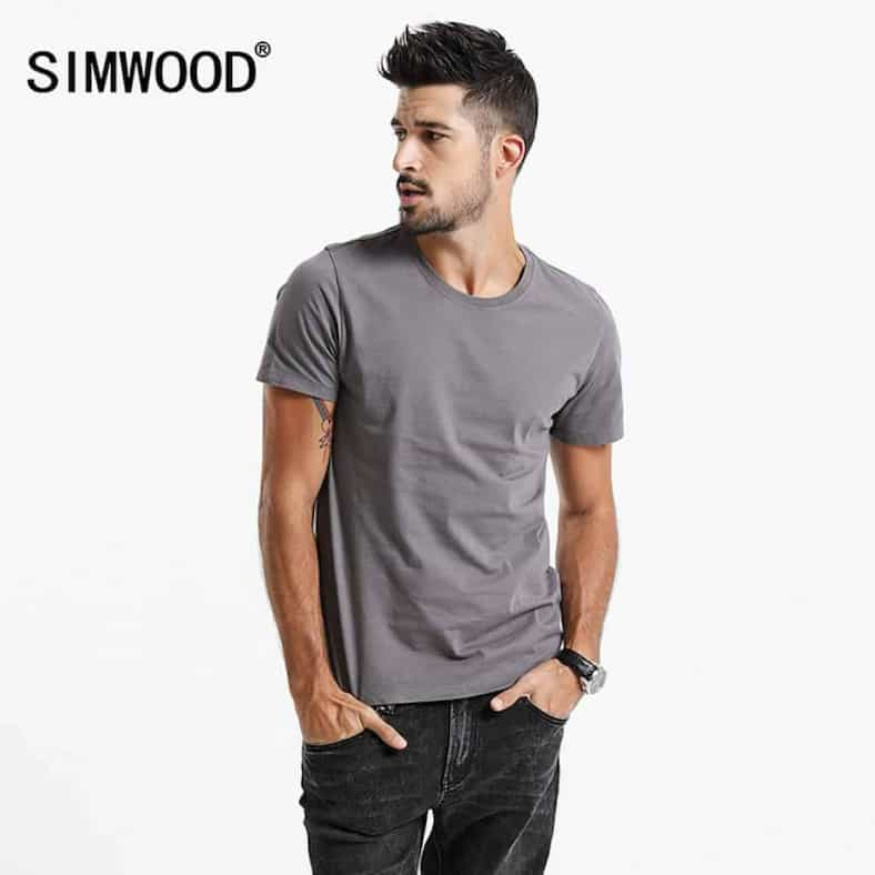 SIMWOOD 2017 New T Shirt Men Slim Fit Solid Color fitness Casual Tops 100 Cotton Comfortable.jpg 640x640