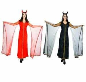 2018 11 13 13 56 38 Aliexpress.com Buy 2018 New Adults Devil Costume Red Black Long Dress Fancy G