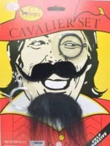 2018 11 19 09 17 48 Cavalier set High Quality gray pirate Fake Beard earring glasses Wedding Birth