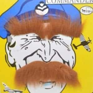 2018 11 19 09 18 01 2017 NEW WING COMMANDER fake brown mustache beard funny cosplay Halloween party