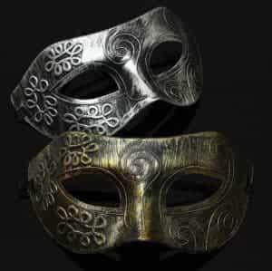 2018 11 15 10 56 38 New 1pc Men Retro and especiallyBurnished Venetian Mask Halloween Masquerade Par