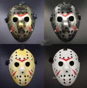 2018 11 15 11 07 12 2017 Halloween WHite Porous Men Mask Jason Voorhees Freddy Horror Movie Hockey S