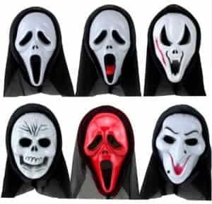 2018 11 15 11 26 35 Adult Men and Women Funny Horror Face Skull PVC Plastic Mask Black Mesh Headgear