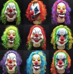 2018 11 15 11 29 28 Fasion Clown Head Mask Prop Halloween Terror Accessory New Fancy Circus Masks Ra