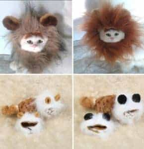 2018 11 21 13 01 23 Pet Costume Cosplay Cat Lions Mane Wig Cute Dog Cap Hat Xmas Dress with Ears in