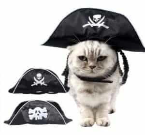 2018 11 21 13 04 42 Pet Halloween Supplies Trendy Headwear Dog Cat Hat Black Pirate Hat With Wig in