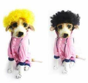 2018 11 21 13 40 17 Soft Synthetic Hair Colorful Dog Short Curly Wig Cap For Pet Dog Cat Cosplay Hal