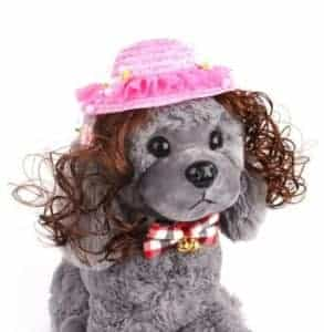 2018 11 21 16 30 19 Puppy Kitty Princess Topee with Wig Teddy Wig Hat Dog Accessories Pet Dog Cat Or