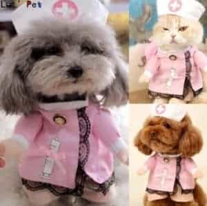 2018 11 22 11 57 09 Pet Dog Cat Costume Suit Puppy Clothes Nurse Outfit For Halloween Christmas Gift