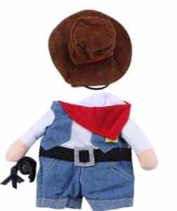 2018 11 22 11 57 34 Cat Cosplay Cowboy Funny Costumes With Hat Puppy Jean Coat Party Dress Pet Cloth