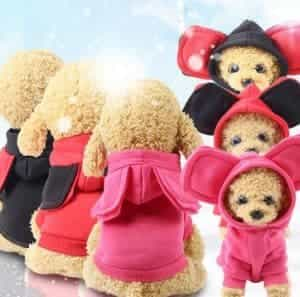 2018 11 22 12 12 12 Pet Cat Clothes Mascotas Costume Clothes For Pet Hoodies Cute Rabbit Cat Clothin