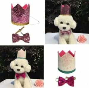 2018 11 25 10 11 56 Holiday Kitten Puppy Hat Pet Accessories Cute Pet Cat Dog Birthday Bowknot Colla