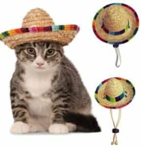 2018 11 25 10 34 26 Dog Cat Mexican Straw Sombrero Hat Multicolor Pet Straw Hat Pet Adjustable Buckl