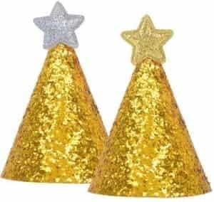 2018 11 25 10 37 58 Pet Dog Puppy Birthday Glitter Sequins Hat Party Shiny Costume Dog Birthday Deco