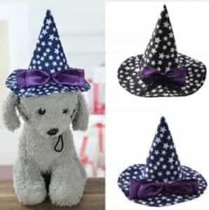 2018 11 25 11 36 39 2018 Christmas Halloween Decoration Pet Star Pointer Cap Dog Cat Cat Turning Hat