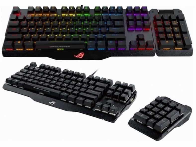 asus rog claymore gaming keyboard