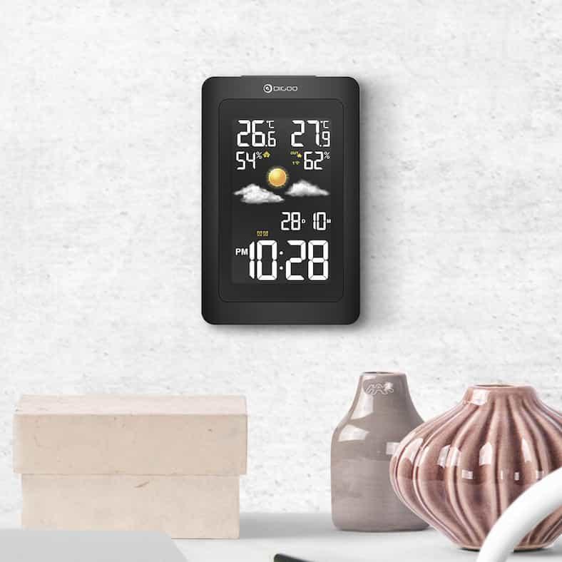 digoo dg th11300 wireless hd negative color screen usb outdoor weather station va glass hygrometer thermometer forecast sensor clock 85920