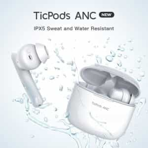 Ticpods ANC True Wireless Earbuds Active Noise Cancellation Bluetooth IPX5 Waterproof Up to 21 Hours Battery